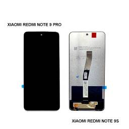 Tela Touch + Display com frame/aro/borda cinza Lcd Xiaomi Redmi Note 9s E 9pro