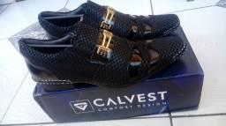 Calvest Comfort Couro Original Legítimo Promocional