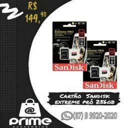 Cartão de Memória Sandisk Extreme 256GB
