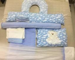 Kit berço - 11 peças + almofada de amamentação