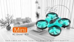 R$ 119 F36 Mini RC Drone - RTF - [Cor}Ciano - (Importado Novo)