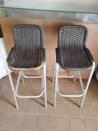 Cadeiras em aço inox