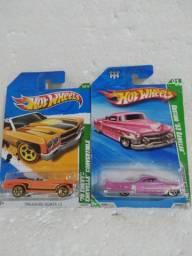 2 hot wheels t hunt antigos 70 chevy chevelle e custom 53 cadillac