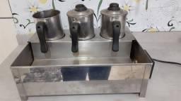 Banho Maria café, leite, chocolate ,