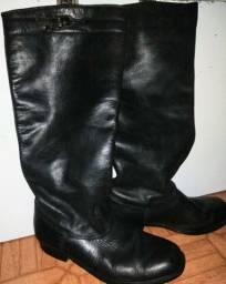 Bota de couro masculina 41