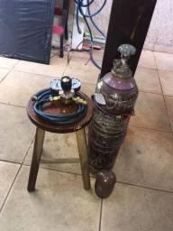 Cilindro de Argônio 2 m + Reg.V8 Brasil + Brinde