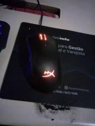 Kit Mouse e Teclado Gamer HyperX RGB Mecânico