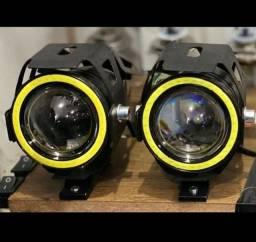 Farol de milha LED para moto