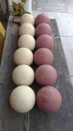 Jogo de bocha com 12 bolas
