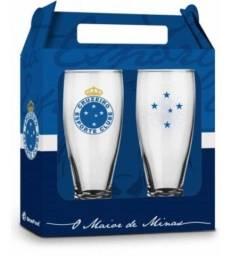 Título do anúncio: Conjunto C/2 Copos Vidro Munich Cruzeiro - Brasfoot