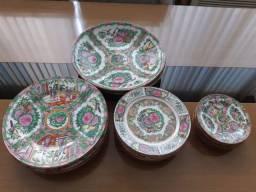 Conjunto 20 pratos em porcelana chinesa