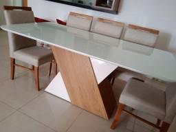Título do anúncio: Mesa de jantar House de 8 cadeiras de madeira maciça
