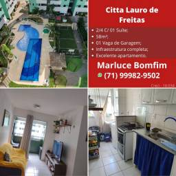 Apartamento de 2 quartos com suíte e varanda no Cittá de Lauro de Freitas ! Oportunidade