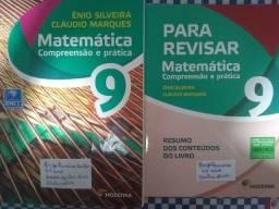 Livro de Matemática Compreensão e Prática Enio Silveira / Cláudio Marques 9 ano Moderna