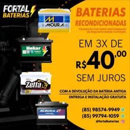 Bateria para Classic Moura e Heliar Entrega e Instalação Grátis