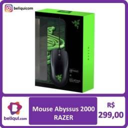 Mouse Razer com Mousepad   Abyssus + Goliathus