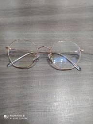 Armação de óculos de grau octagonal rose Gold
