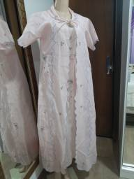 Camisola+Robe bordado M (40) por 40.00