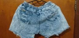 Bermuda/Short jeans tipo moletom