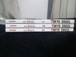 Mangás Tokyo Ghoul (Edições 1, 2, 3)