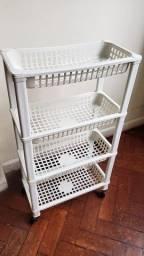 Estante Plástico Branco 4 andares
