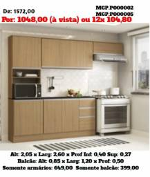 Super Promoção em MS- Armario de Cozinha- Cozinha Compactadao com Balcão Lindissima