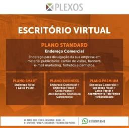 Endereço Fiscal por R$ 800,00 em 1 + 1 na Plexos escritório Virtual e Coworking.