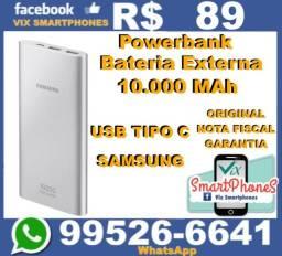 Novo powerbank Samsung 10000mah usb tipo C bateria externa 9916qsteh*_-_*
