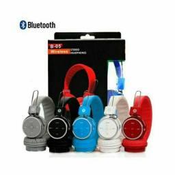 Título do anúncio: Head Phone Ouvido Bluetooth Sem Fio Cartão Sd Md B-05