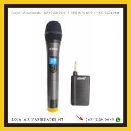 Microfone Profissional Sem Fio, Wireless - Lelong Le-909