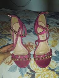 Linda sandália rosa 34