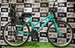 Bike aro 26 feminina com cadeirinha