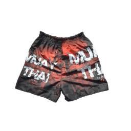 Shorts Muay Thai Bermuda Calção Modelo Tailandês