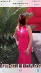 Título do anúncio: Vestido festa renda vermelho melancia