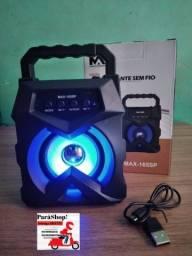 Caixinha de som com luz led interna ( entrega grátis)