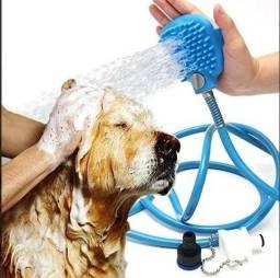 Mangueira Pet Massageadora Lava Fácil Banho Cães E Gatos