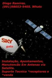 Instalacao de antenas via satelite