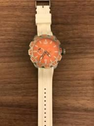 519dbd1216f Relógio Náutica Pulseira Borracha Branca