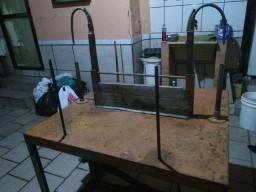 Maquina de desvirar luvas de segurança de couro