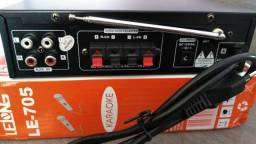 Amplificador de som 120w com Bluetooth completo
