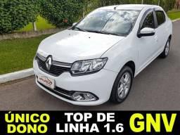 Renault Logan Dynamic 1.6 8v- GNV - 2016 - Sem Entrada - Único Dono - Top De Linha - 2016