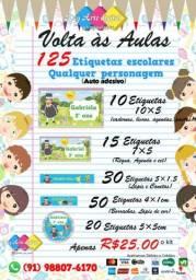 Kit de etiqueta escolares personalizadas comprar usado  Ananindeua