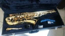 Sax Tenor Júpiter vintage+Case+Boquilha Metal+Kit De Limpeza