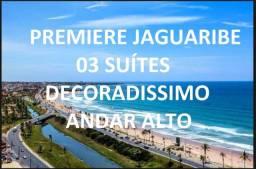 Premiere Jaguaribe 166 M², Vista mar 3 Suítes Finamente Decorado Hemisphere, dazur