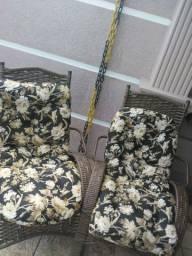 Cadeiras novas fibra sintética