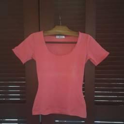 Camiseta Rosa justinha