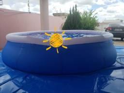 Vendo piscina inflavel 7.400 litros.  Valor 600 reais