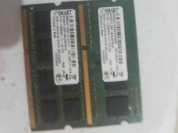 Par de Memorias ddr3 4gb para notebook troco por memorias desktop ddr3