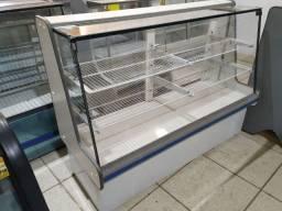 Balcão vitrine seca usado 1,50m Frete Grátis, marca Polofrio