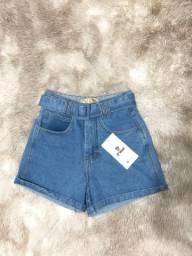 Short jeans básico feminino
